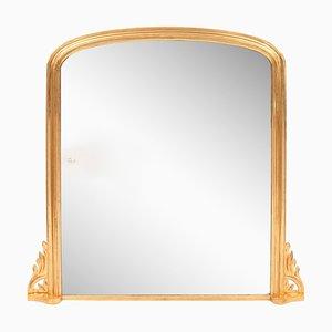 Antique Gilded Overmantle Mirror, 1860s