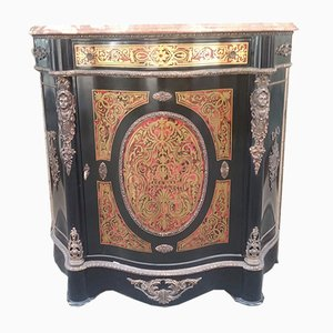 Antique French Boulle and Marble Sideboard