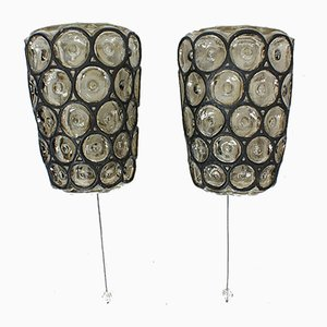 Mid-Century German Sconces from Glashütte Limburg , Set of 2