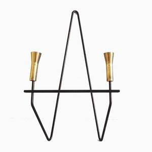 Mid-Century Brass Wall Candleholder, 1960s