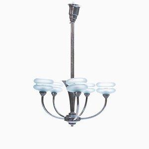 Lámpara de araña francesa Art Déco, años 30