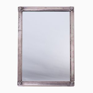 Antique Biedermeier Silver Mirror, 1820s