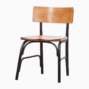 Chaises d'Appoint en Bois Courbé Noir par Frits Schlegel pour Fritz Hansen, 1930s, Set de 6