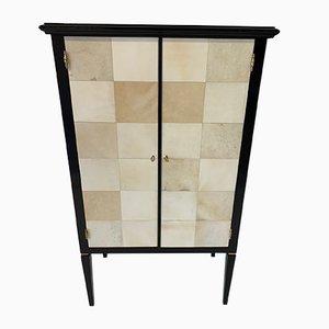 Art Deco Italian Parchment Cabinets, 1950s, Set of 2