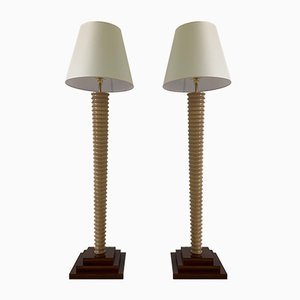 Art Deco Italian Floor Lamps, 1980s, Set of 2