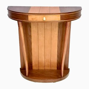 Art Deco Italian Mahogany and Cherry Wood Console Table, 1950s