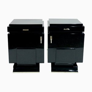 Art Deco French Nightstands, 1930s, Set of 2
