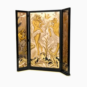 Art Deco French Room Divider from J.J.RAY&Cie, 1930s