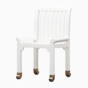 Weiße Gartenstühle von Kerstin Hörlin-Holmquist für Nordiska Kompaniet, 1970er, 6er Set