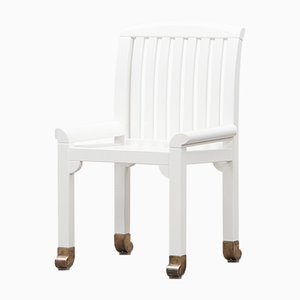 White Garden Chairs by Kerstin Hörlin-Holmquist for Nordiska Kompaniet, 1970s, Set of 6