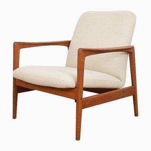 Schwedischer Mid-Century Armlehnstuhl aus Teak von Folke Ohlsson für Dux, 1960er