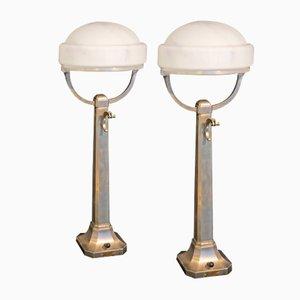 Lampes de Bureau Pharmaciens d'Époques de Herman Steinbuch, Set de 2