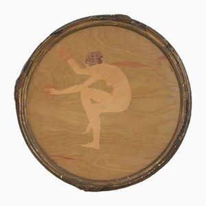 Intarsie Tänzer mit Becken von William Arthur Chase für The Rowley Gallery, 1920er