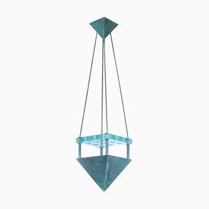 Bronze and Murano Glass Ceiling Lamp from Vistosi, 1987