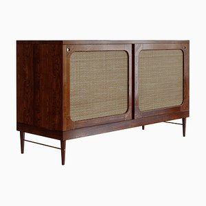 Sideboard in Cognac and Rattan by Lind + Almond for Jönsson Inventar