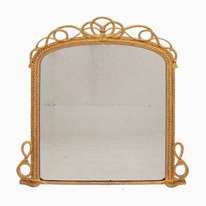 Espejo marino antiguo dorado, década de 1840