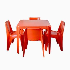 Juego de mesa de jardín y silla de Helmut Bätzner para Bofinger, años 60