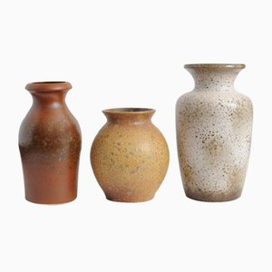 Mid-Century Fat Lava Ceramic Vases from Scheurich, Set of 3