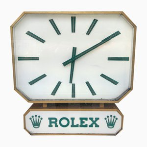 Vintage Duoface Clock from Rolex, 1970s