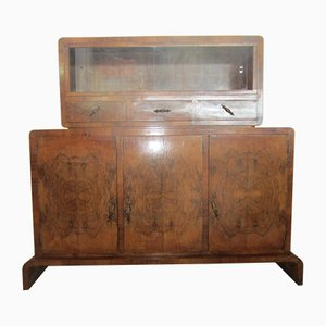 Art Deco Sideboard and Cabinet Set, 1930s