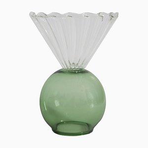 Grüne Vase aus Kristallglas von Natalia Criado