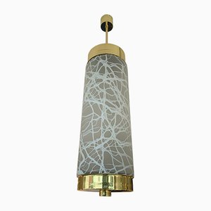 Italian Brass and Murano Glass Ceiling Lamp from Esperia, 1990s