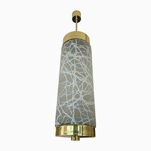 Lámpara de techo italiana de latón y cristal de Murano de Esperia, años 90