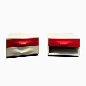 Tables de Chevet par Raymond Loewy pour Doubinsky, Set de 2