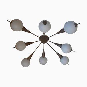 Lámpara de techo Sputnik italiana Mid-Century, años 50