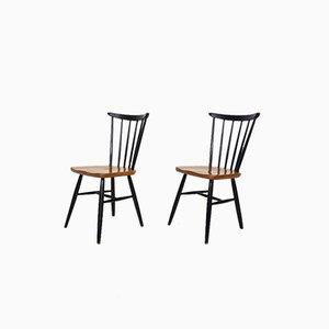 Beistellstühle von Pastoe, 1950er, 2er Set