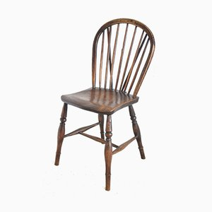 Antique ELm Hoop and Stick Back Side Chair
