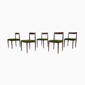 Esszimmerstühle aus Teak von Lübke, 1960er, 5er Set