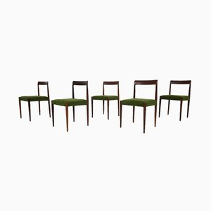 Teak Dining Chairs by Lübke, 1960s, Set of 5