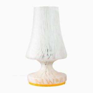 Lámpara de mesa vintage de vidrio, años 70