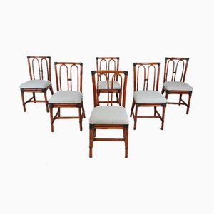 Bamboo Dining Chairs, 1980s, Set of 6