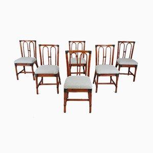 Esszimmerstühle aus Bambus, 1980er, 6er Set