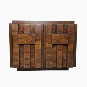 Mid-Century Brutalist Cabinets from Lane Furniture, Set of 2