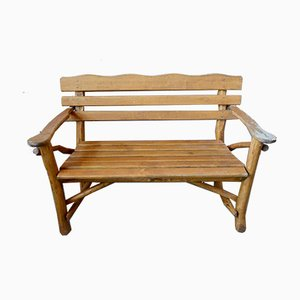 Vintage Wooden Bench, 1970s