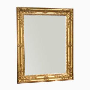 Antiker vergoldeter rechteckiger Spiegel