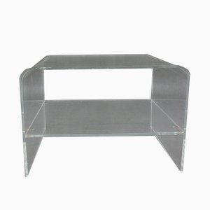Plexiglass Side Table, 1980s