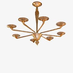 Large Murano Glass Chandelier by Angello Cappellini, 1958
