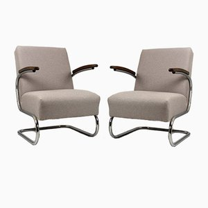 Model S-411 Armchairs by Willem Hendrik Gispen for Mücke Melder, 1930s, Set of 2