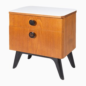Mid-Century Nightstand by Jindřich Halabala for UP Závody