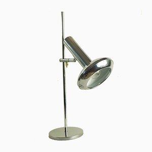 Lampada da tavolo vintage in metallo cromato di Koch & Lowy, anni '70