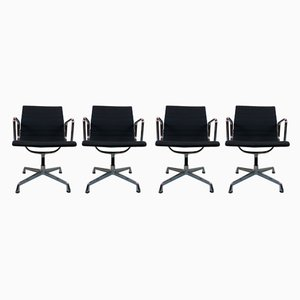 Aluminum Model EA 107 Armchairs by Charles & Ray Eames for Vitra, 2000s, Set of 4