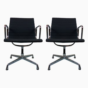 Aluminum Model EA 107 Armchairs by Charles & Ray Eames for Vitra, 2000s, Set of 2