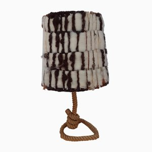 Rope Table Lamp by Adrien Audoux & Frida Minet, 1950s
