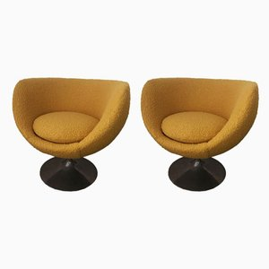 Egg Lounge Chairs, 1970s, Set of 2
