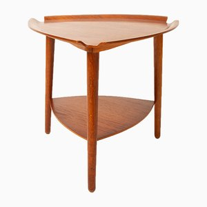 Mesa auxiliar danesa vintage de teca, años 60