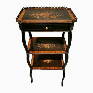 Napoleon III French Inlaid Rosewood and Bronze Coffee Table
